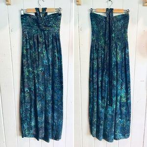 Hawaiian Batik Maxi Dress 💙